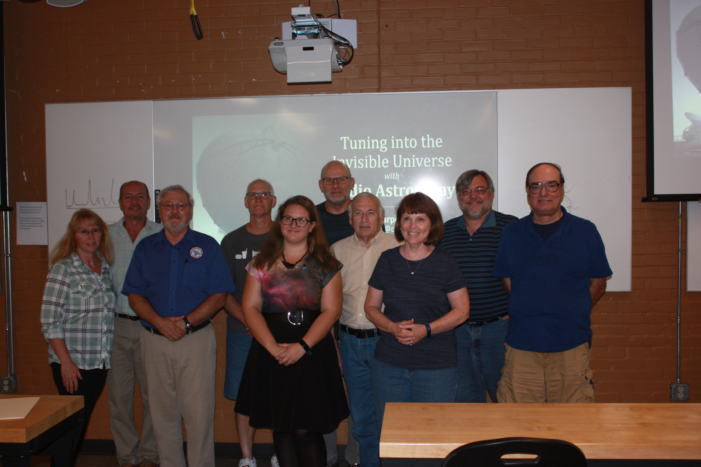 Me posing with the York County Astronomical Society after my public talk about radio astronomy on September 20, 2018.