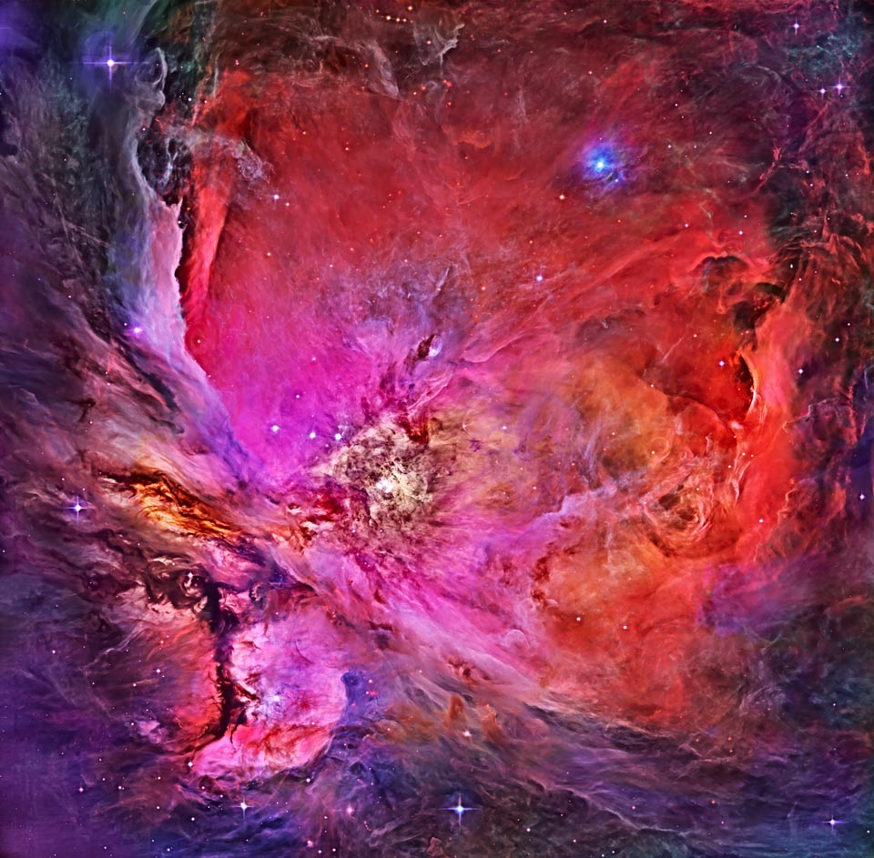 The Great Orion Nebula ( R. Villaverde/Hubble Legacy Archive/NASA )