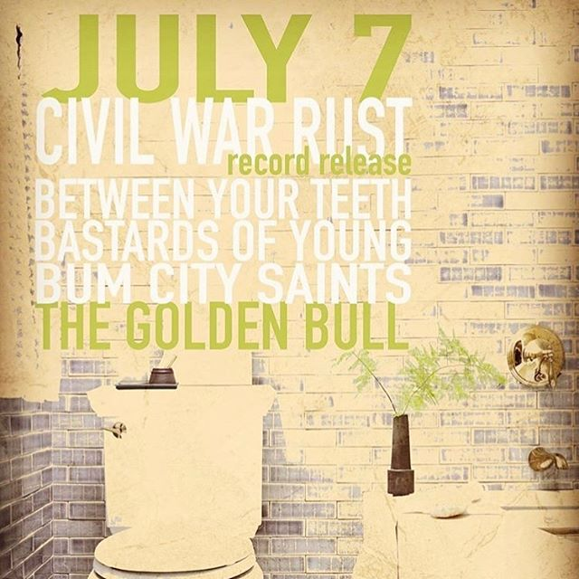 Come party with us and the rest of these great bands next week to celebrate new tunes from Civil War Rust!!!