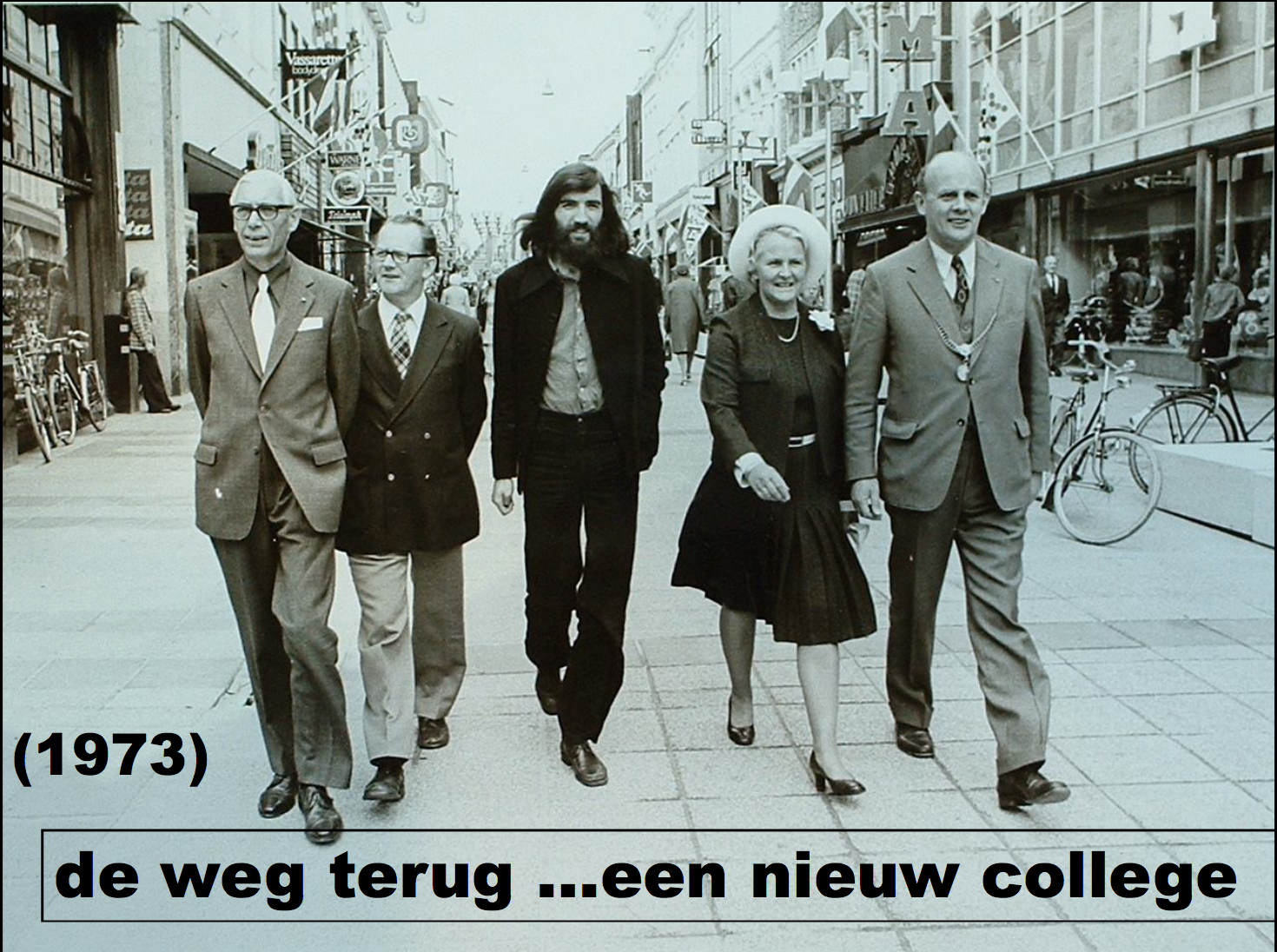 PvDA party members, with Van Den Berg at center.  Image courtesy of Karsijns and Schilt, 2003