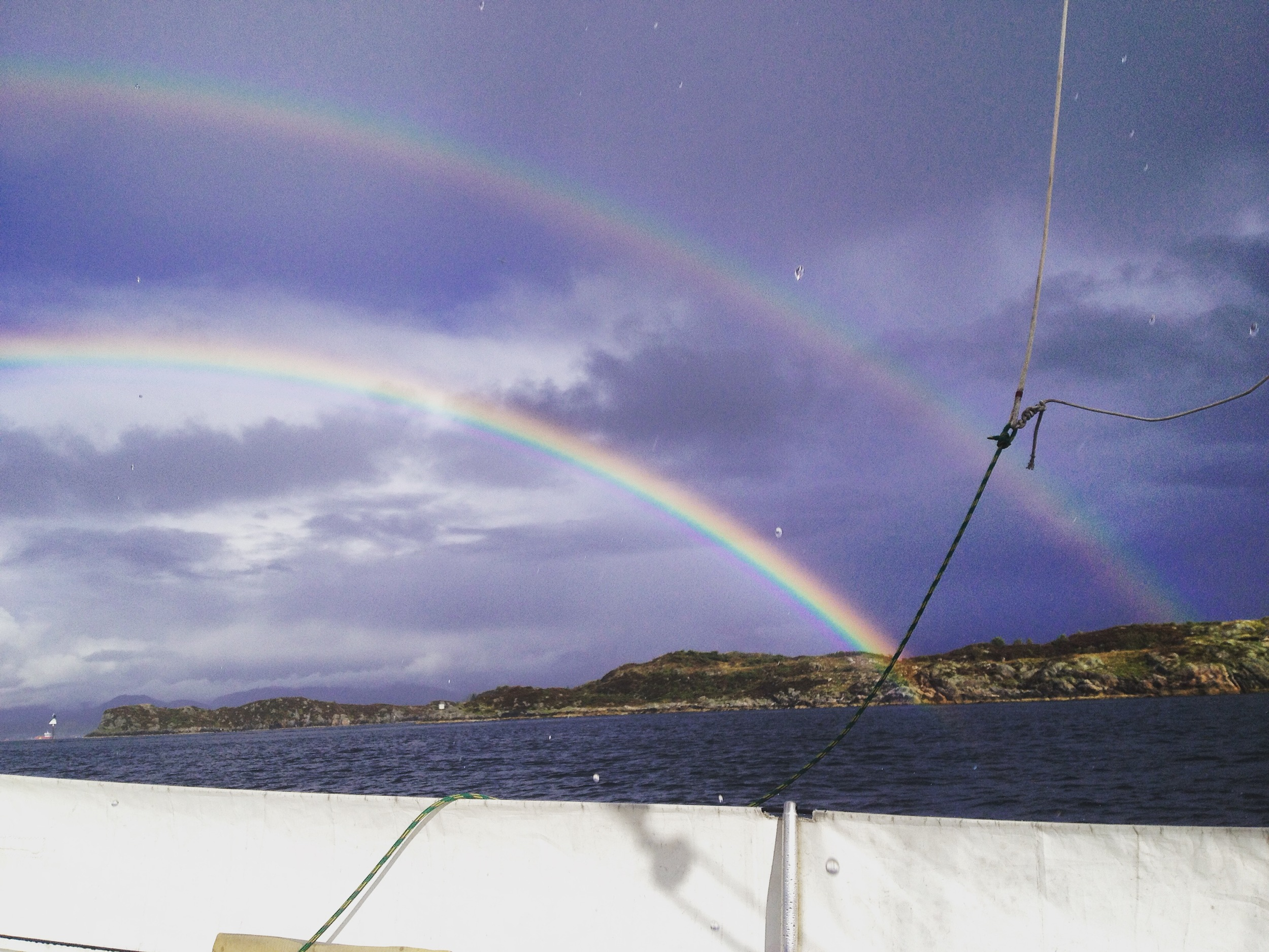 First time seeing a double rainbow