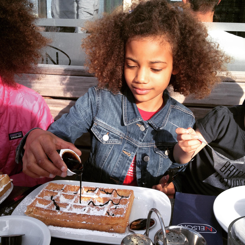 Luna's 9th birthday wish, Belgian waffles