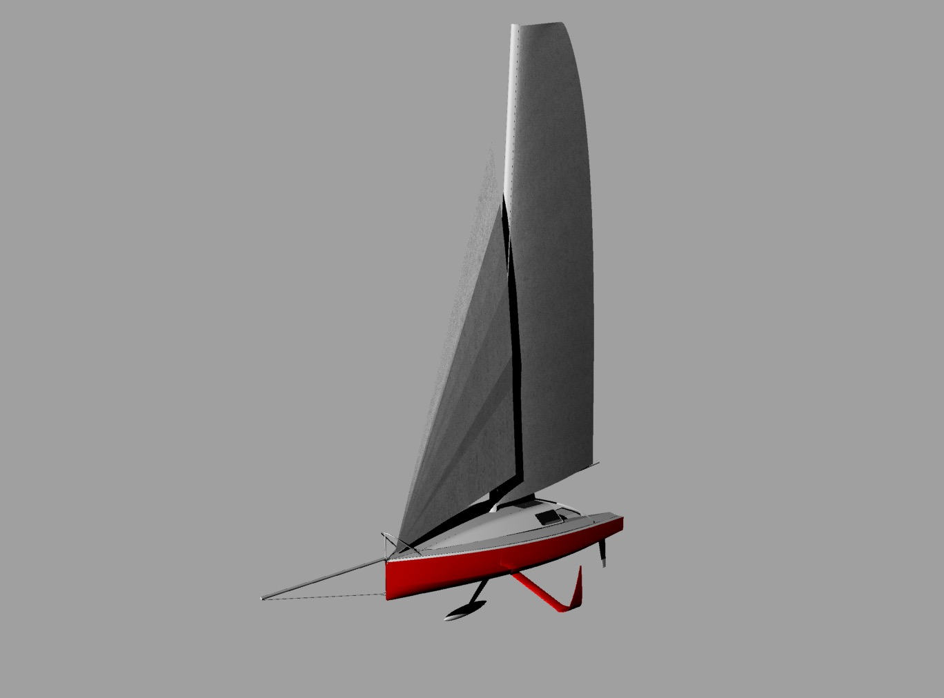 3D rendering of Jay Thompson's Mini6.50 project designer by Verdier