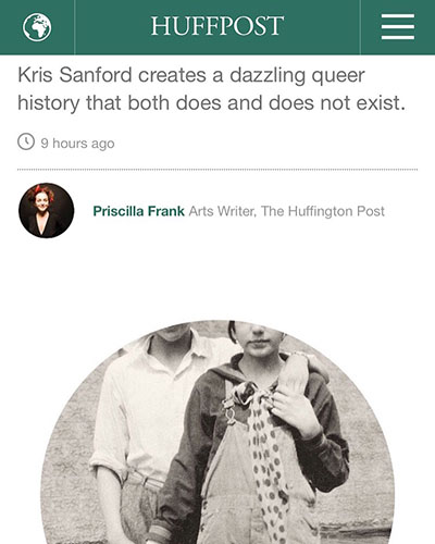 Huffington Post Arts, July 6, 2016  Full article:  Artist Creates An Imaginary History of Queerness From Found Photos