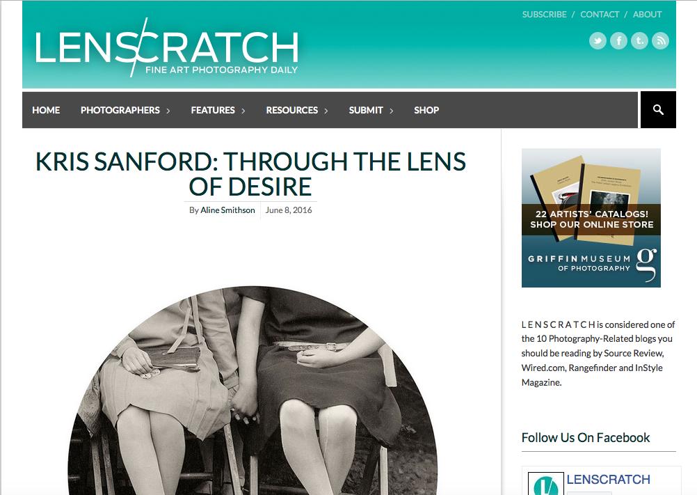 Lenscratch, June 8, 2016  Full article:  Kris Sanford: Through the Lens of Desire