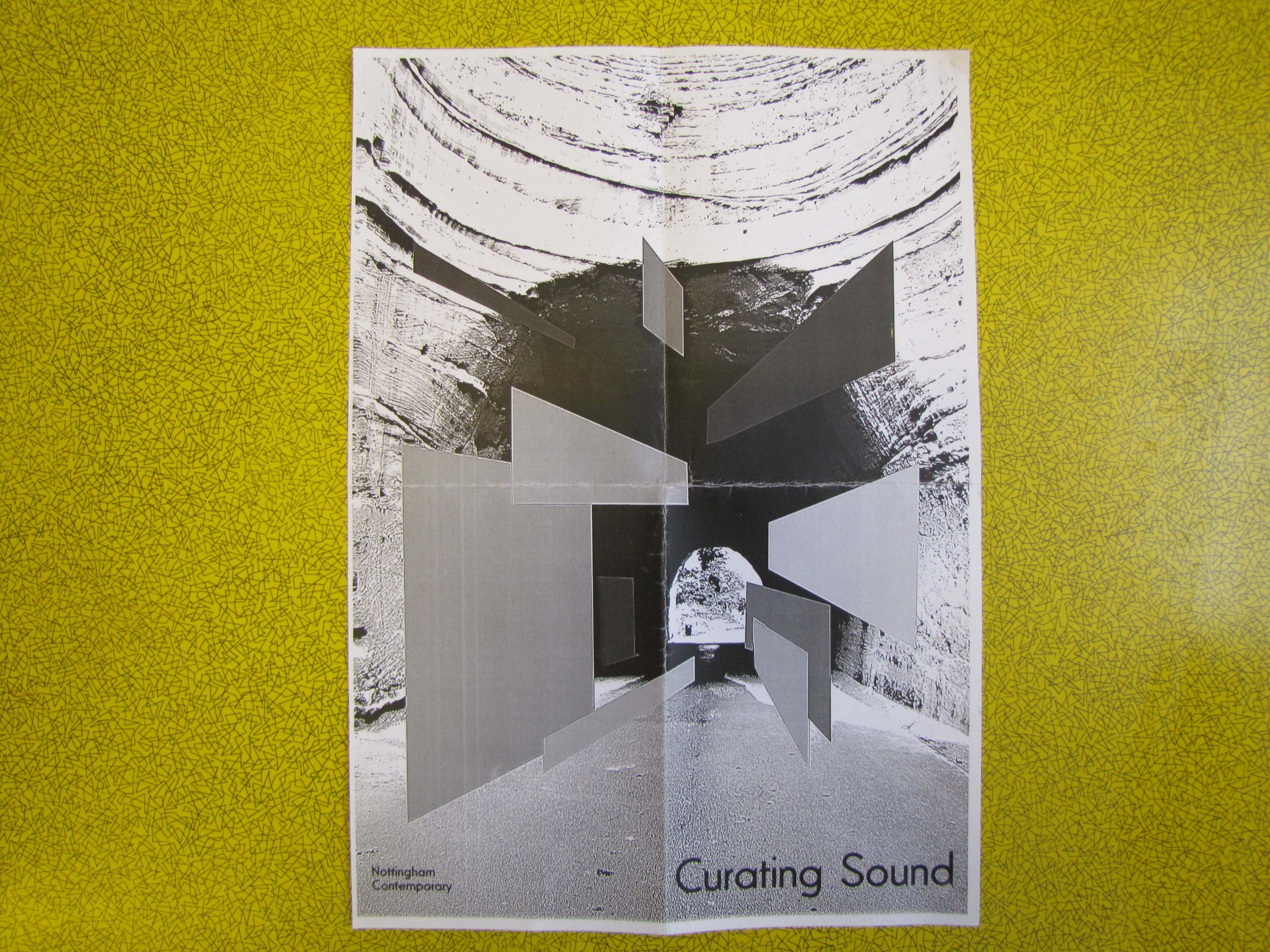Event program/poster. The poster design is an image created whilst working on the commission. Nottingham Contemporary incorporated this for the program.