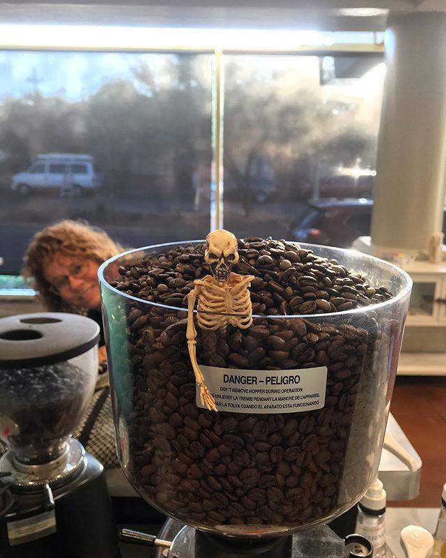 tfw theres too many bones in your latte . . . . #tfw #bones #spooky #halloween #coffee #tucsoncoffee #localaz #eatlocal #tucsonlocal #tucsoneat #uofa #cafe #yelptucson
