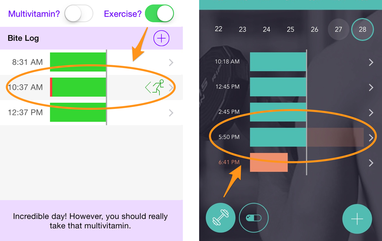 Toggling exercise button trims down some over-bites.