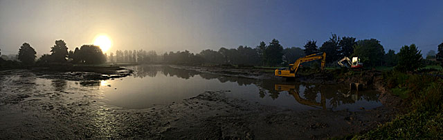 Early morning dredging!