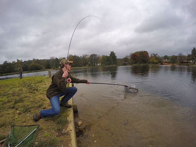 16 year old Toby Bennett lands a Trout on Anchor Lake