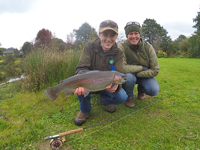 Toby with a stunning Exe Valley Fish - and a very proud Mum!