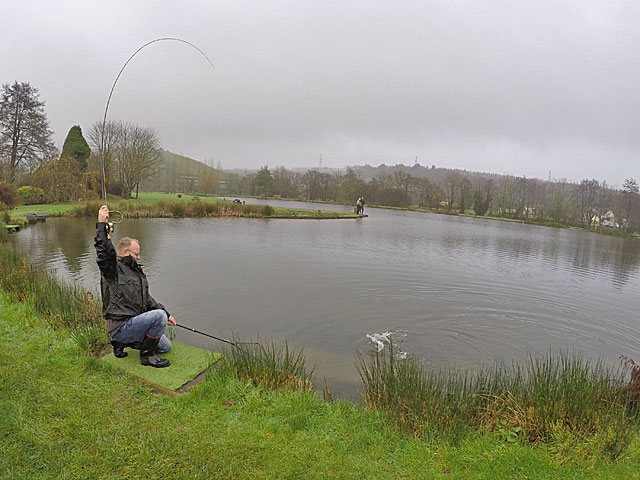 This angler worked out the tactics & is rewarded for his efforts - Exe Valley, Sun 6th Dec 2015