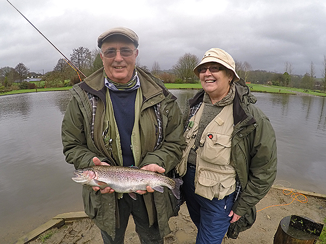 Terry Bridgman with his £10 winning tagged Trout