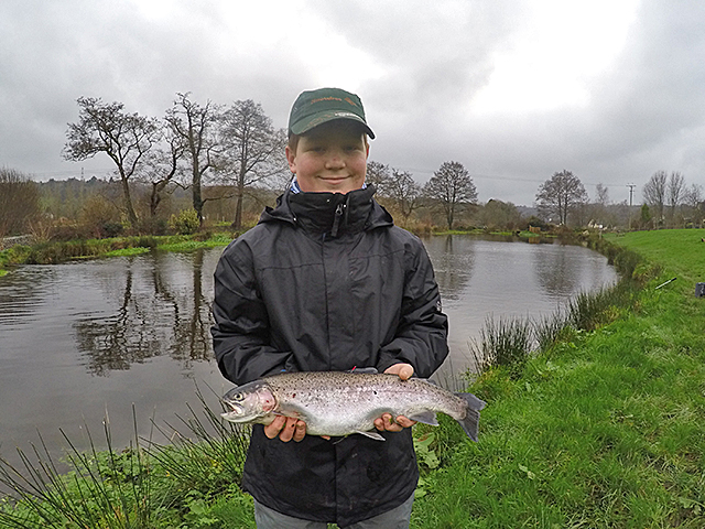 Alex fished a Straggle Cat to bag not only this Rainbow but a £20 note.  Well worth the visit from Plymouth!