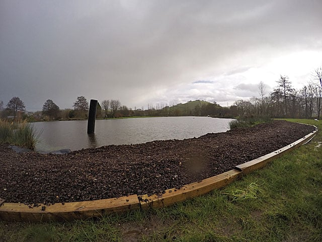 We have been installing temporary paths at the fishery this week