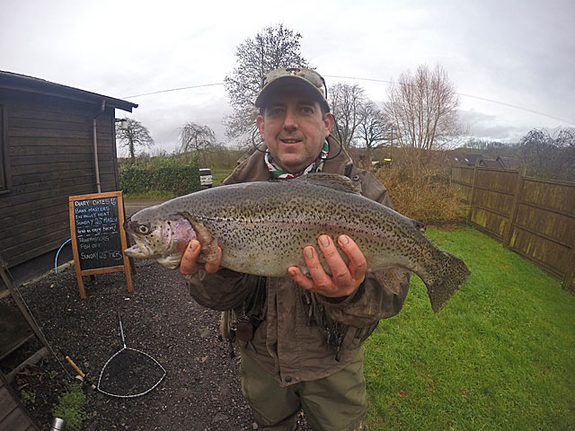 Richard Burt heads home with a very nice bag of Trout and wins a tenner into the bargain! Happy Days!