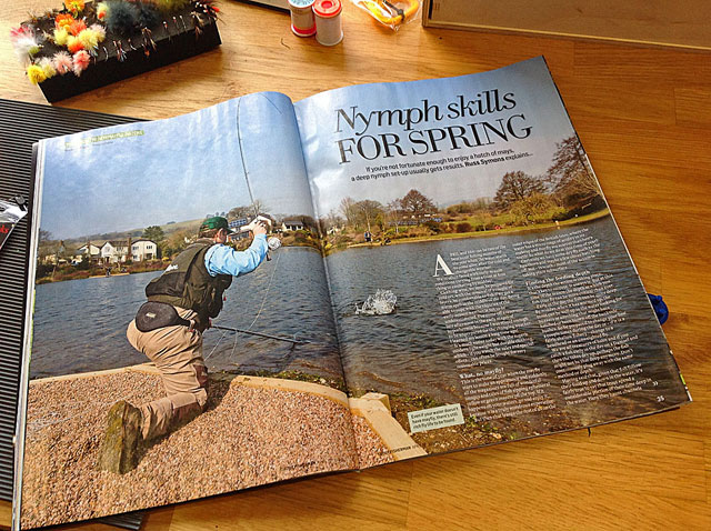 Article shot at Exe Valley Fishery by Russ Symons featured in this months Trout Fisherman magazine.