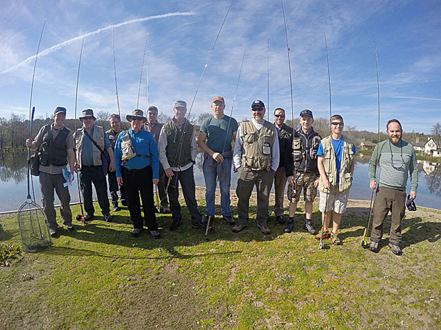 The UK Hydrgraphic Office enjoy a day fly fishing at Exe Valley Fishery ...