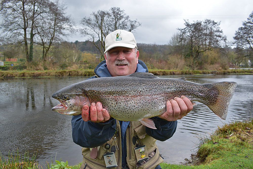 8lb 9oz of  Anchor Lake  Rainbow Trout for John Ratcliffe, caught in early Feb 2017 using a Black Nomad.