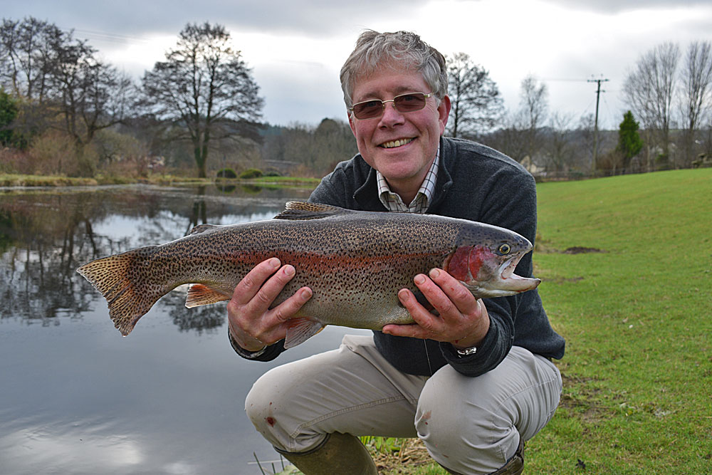 George Hext from Cornwall - 9lb Rainbow (landed on a #4 weight brook rod!)