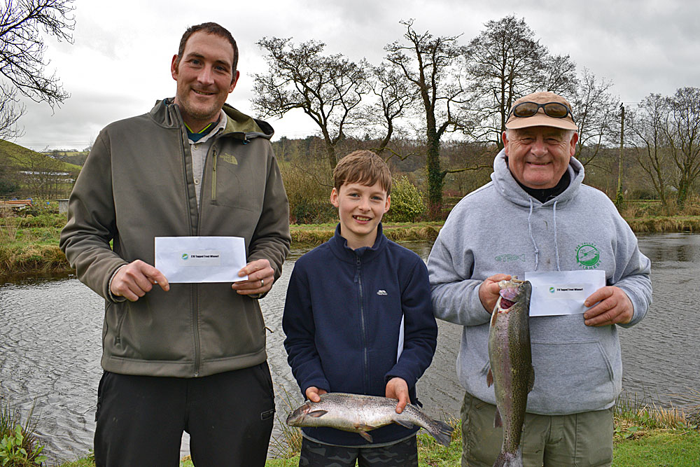 Tagged Trout Winners - Matt Kingdon, James Mockridge & John Gilmore