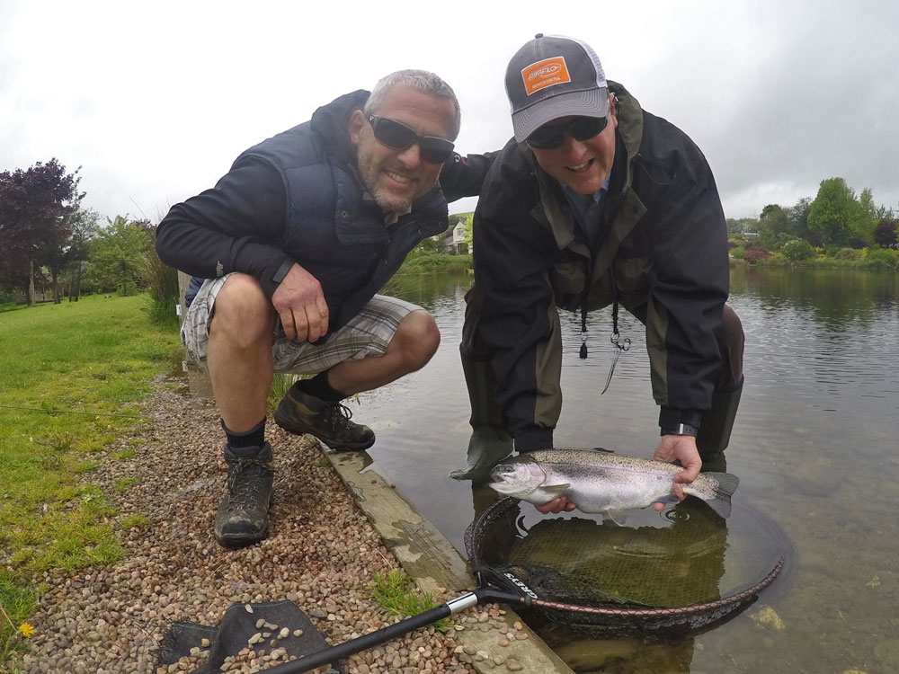 Andy & Carl caught 8 fish between them using washing line tactics, Hopper Booby on the point and Crank Shank Buzzer on the dropper.