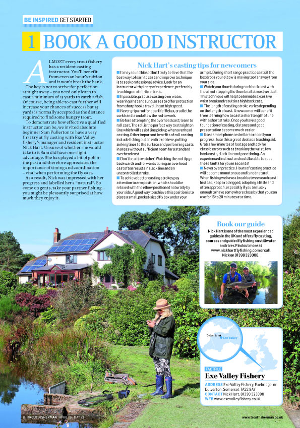 Find out how to get started fly fishing - see Trout Fisherman magazine Issue 496