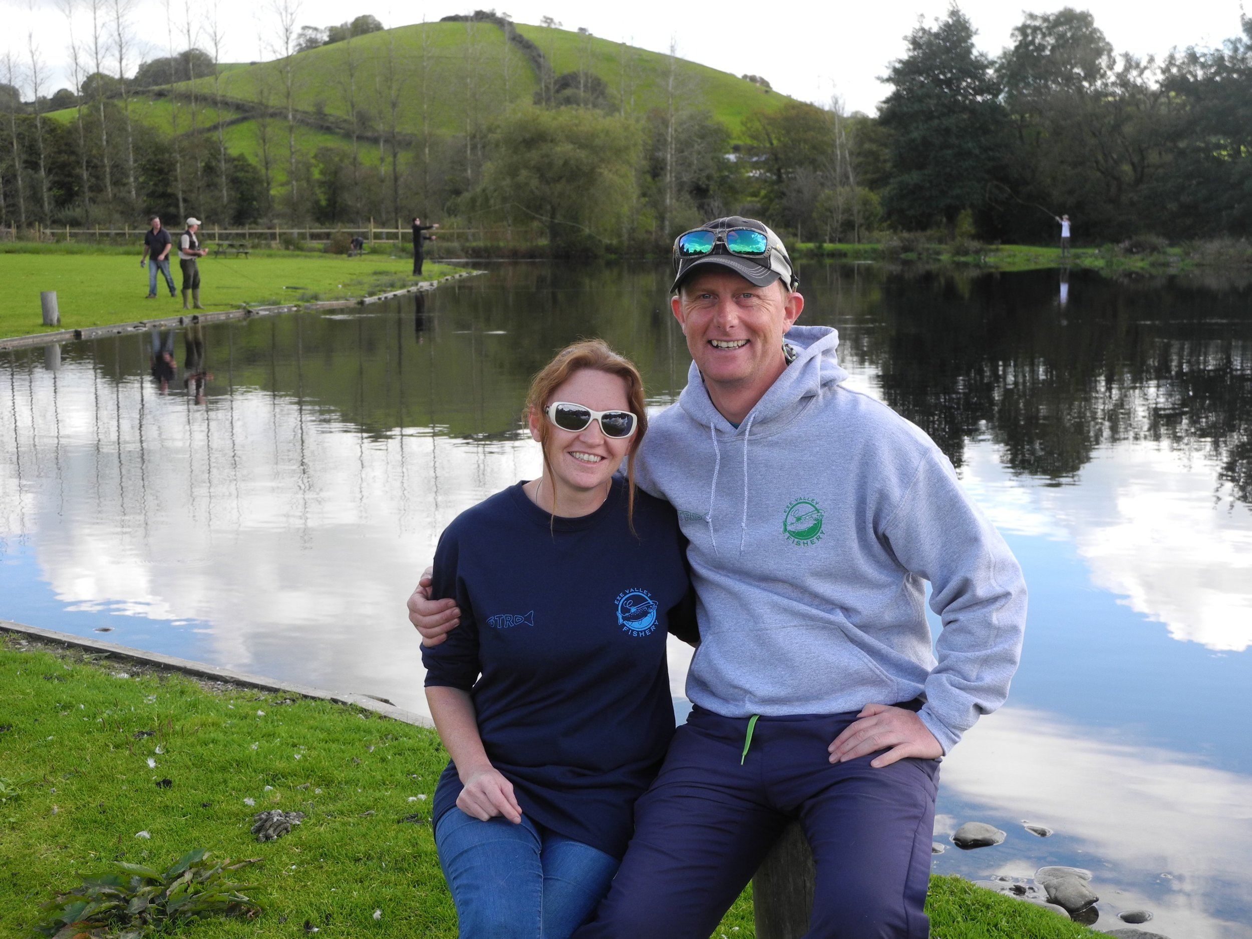 Exe Valley Fishery  is managed by Sue Hart with assistance from new Farlows fishing manager  Nick Hart .