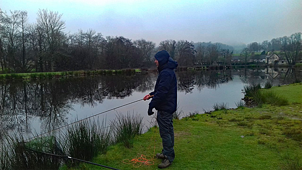 Ben Cheeld fishing on his free Catch & Release ticket