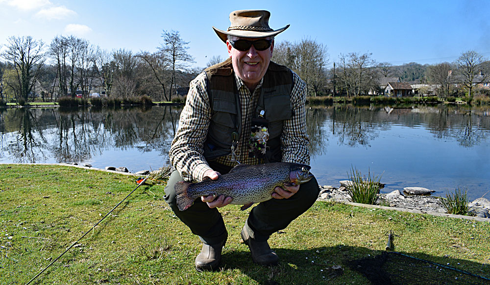 Mike Duckett with his entry for next years Troutmasters competition!