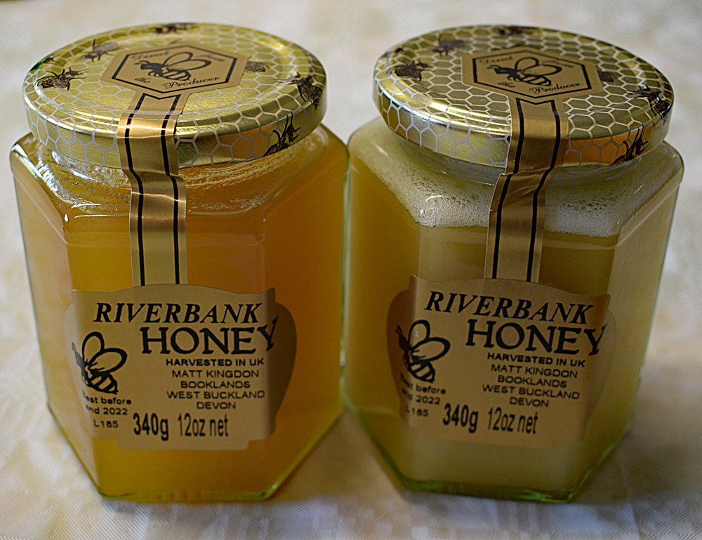Delicious Honey made from Exe Valley Fishery Bees