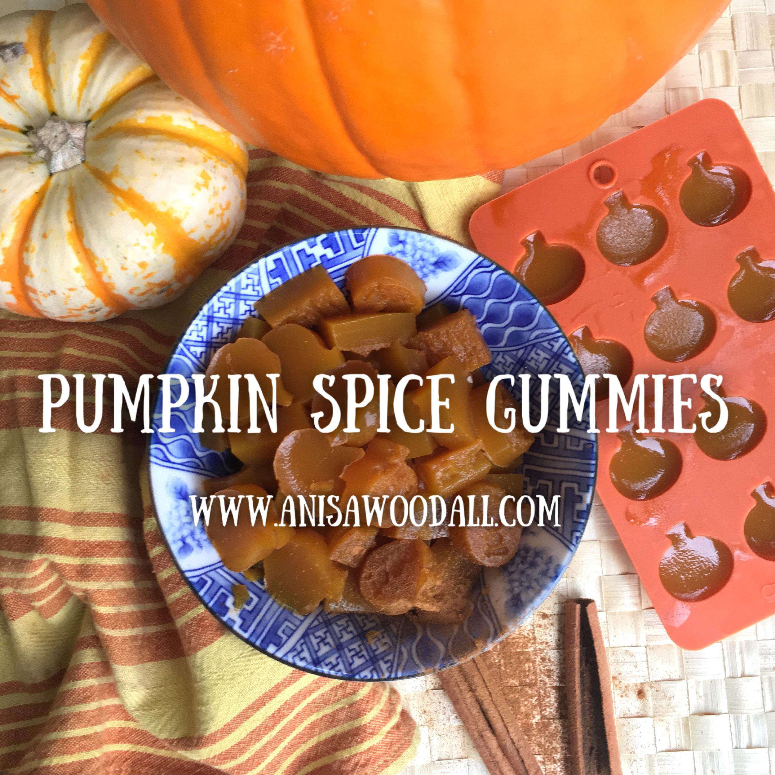 pumpkin spice gummies