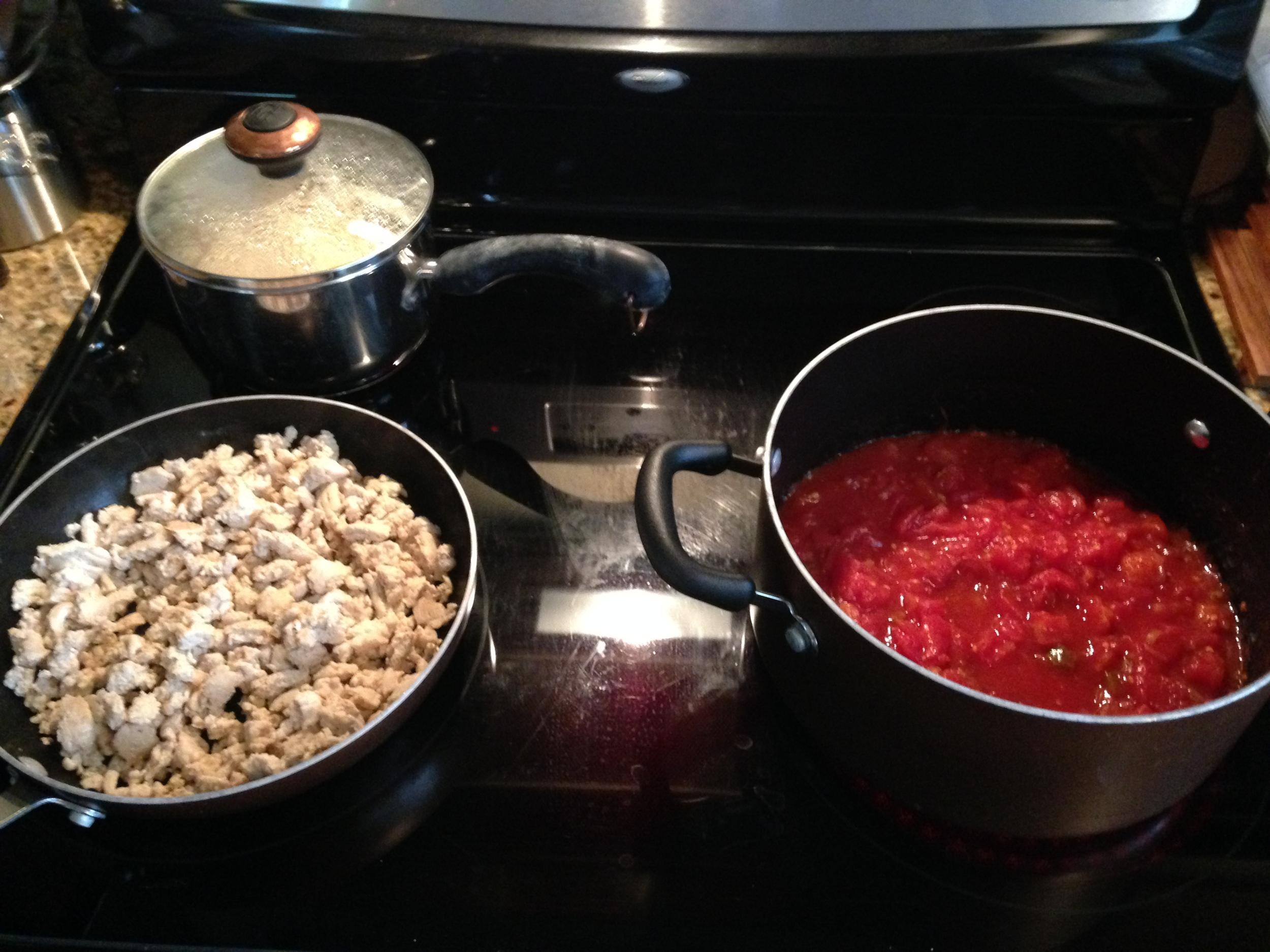 Cooking in progress!
