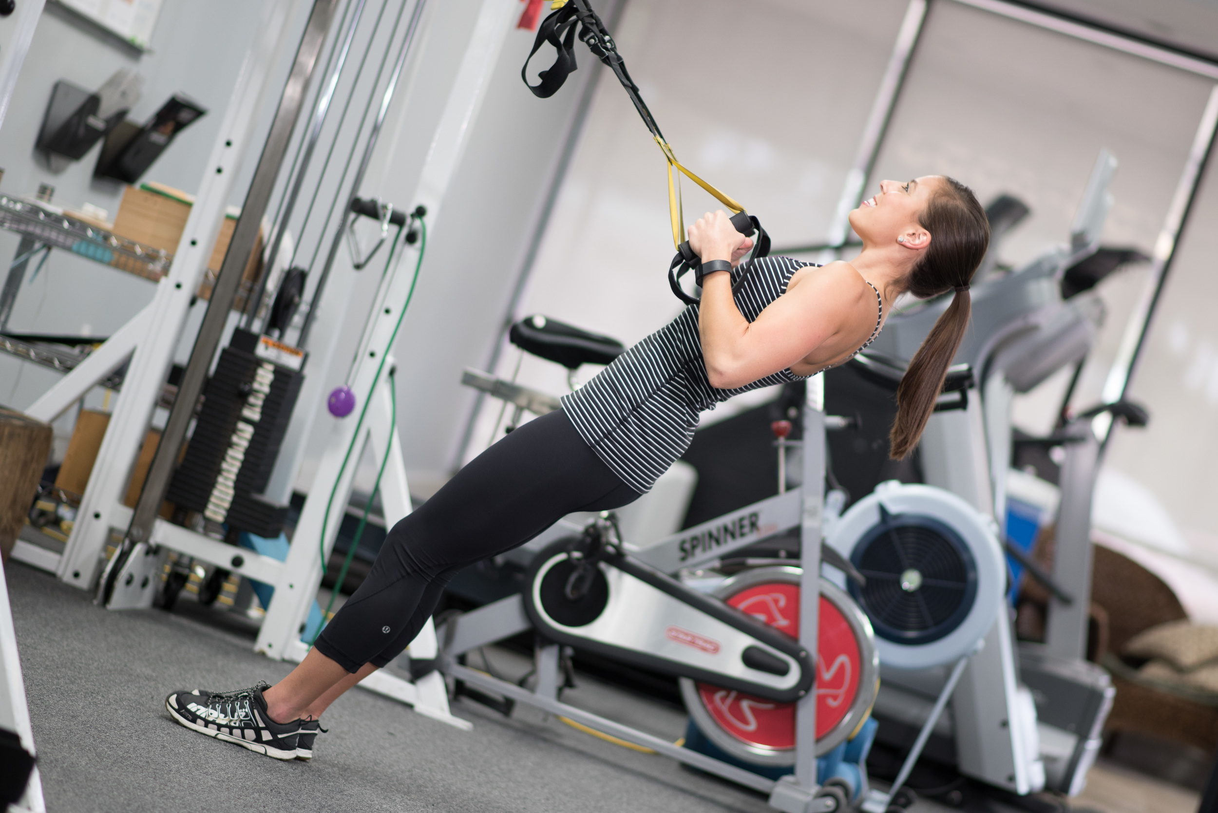 Exercise #2: TRX incline pull-ups