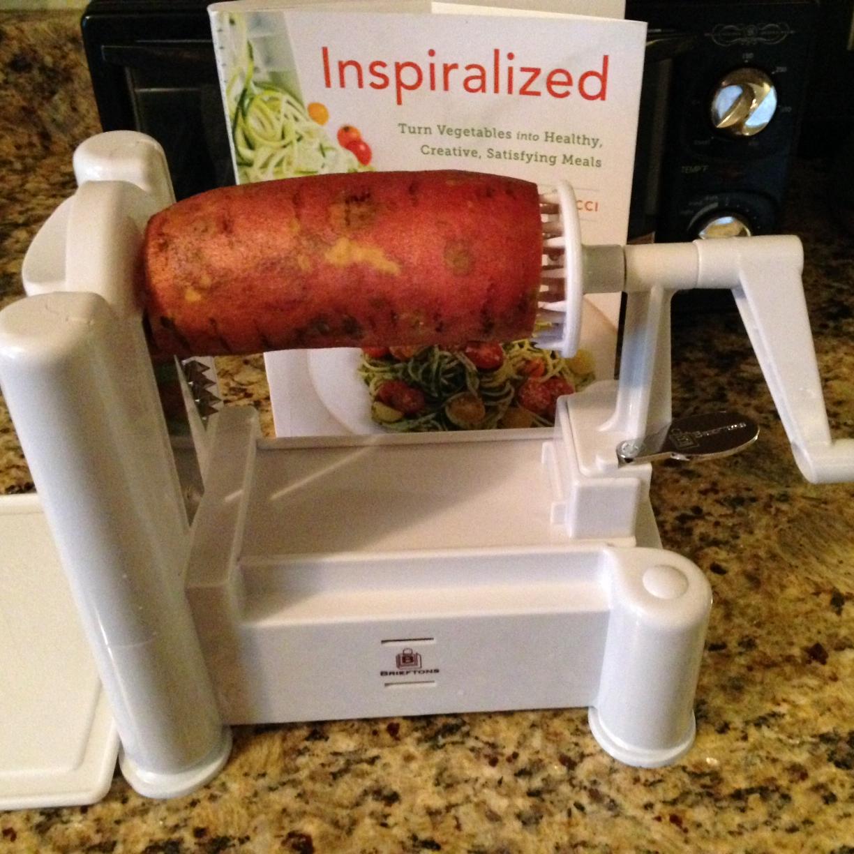 Sweet potato set and ready to be Spiralized!