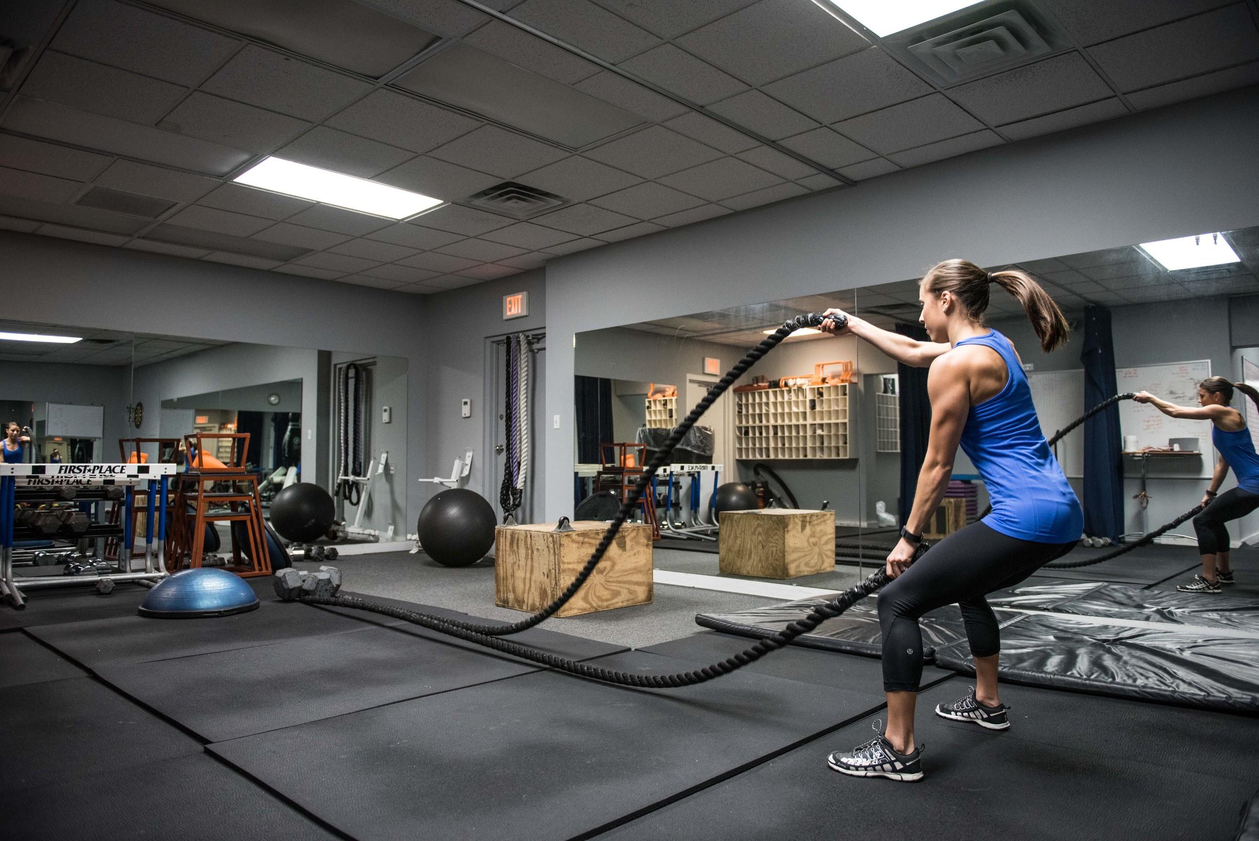 Rope slam workout