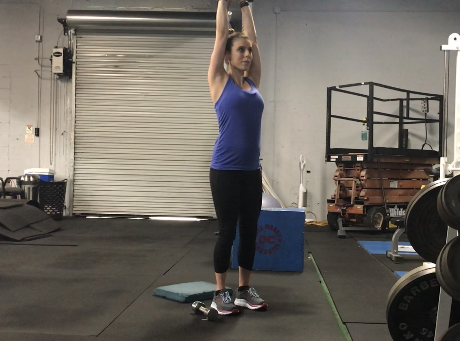 chest tri and shoulders dumbbell prenatal workout