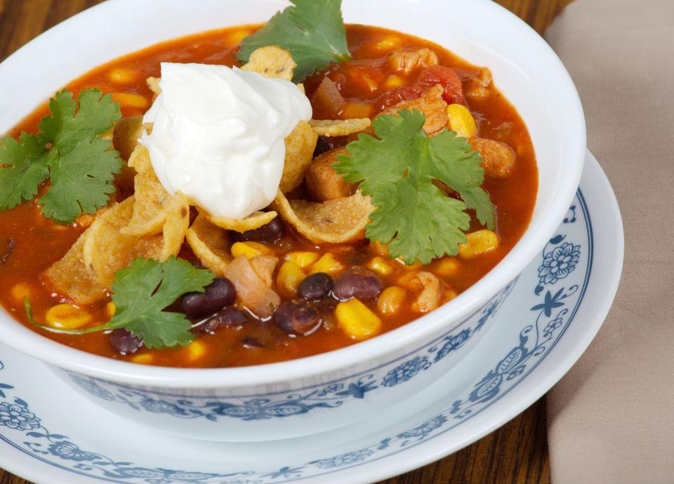 Vegetarian Crockpot Taco Soup