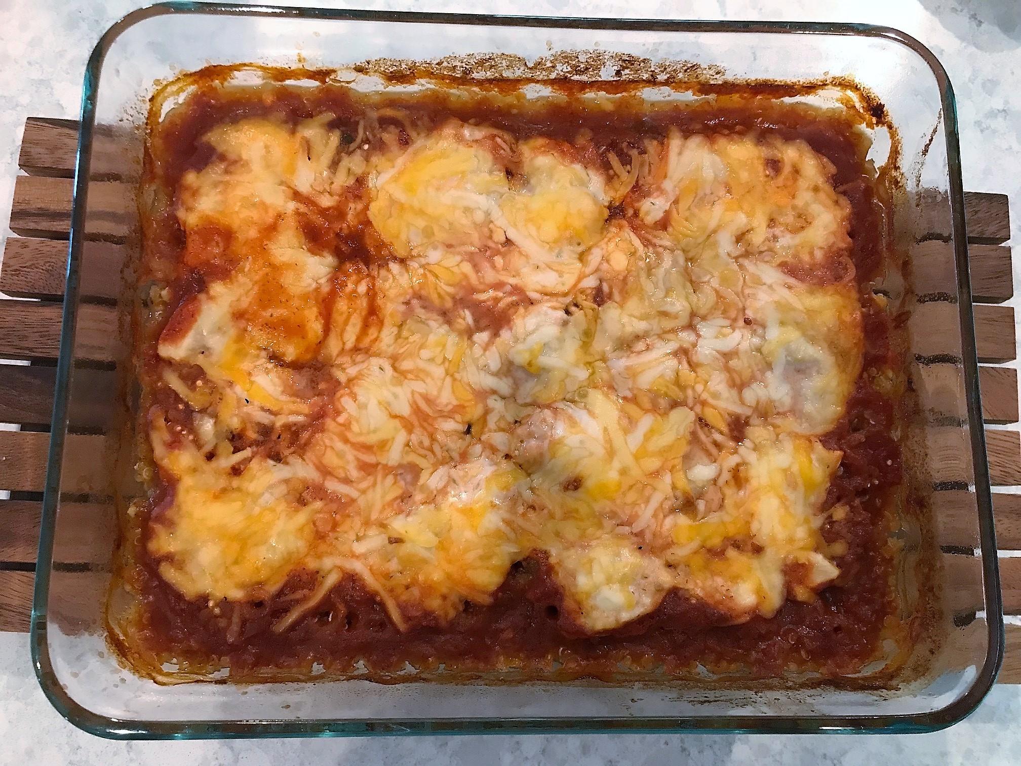 Healthy Southwest Chicken Quinoa Bake