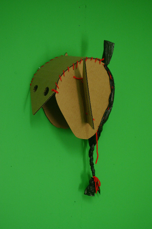 Cardboard Satyr Mask