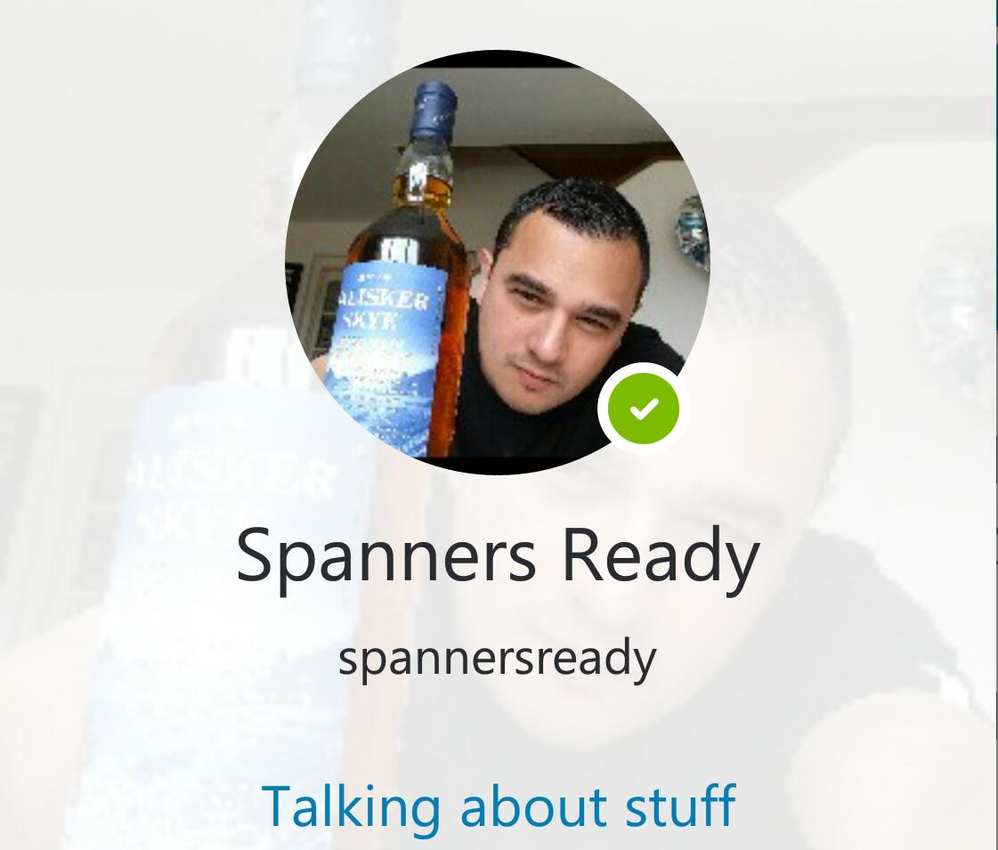 SpannerReady on Skype