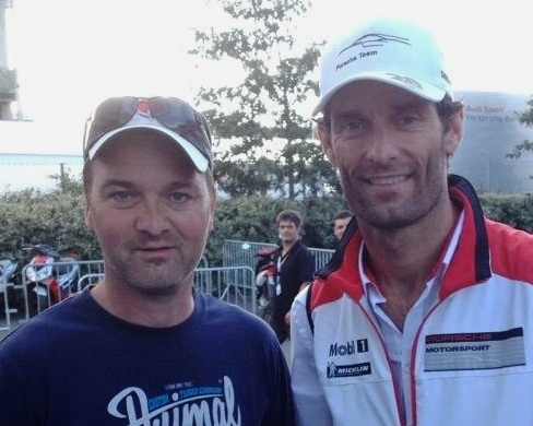 Live stream moderator. Got comment of the week once. This is the last picture of Mark Webber alive.