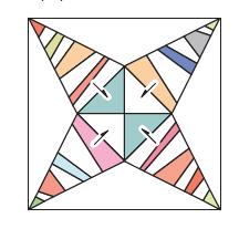 Diagramas e instrucciones para un block y para la quilt completa.