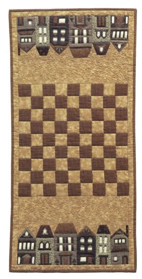 Un camino de mesa/ tablero para damas o ajedrez. Qué gran idea! Foto cortesía: Shop Martingale