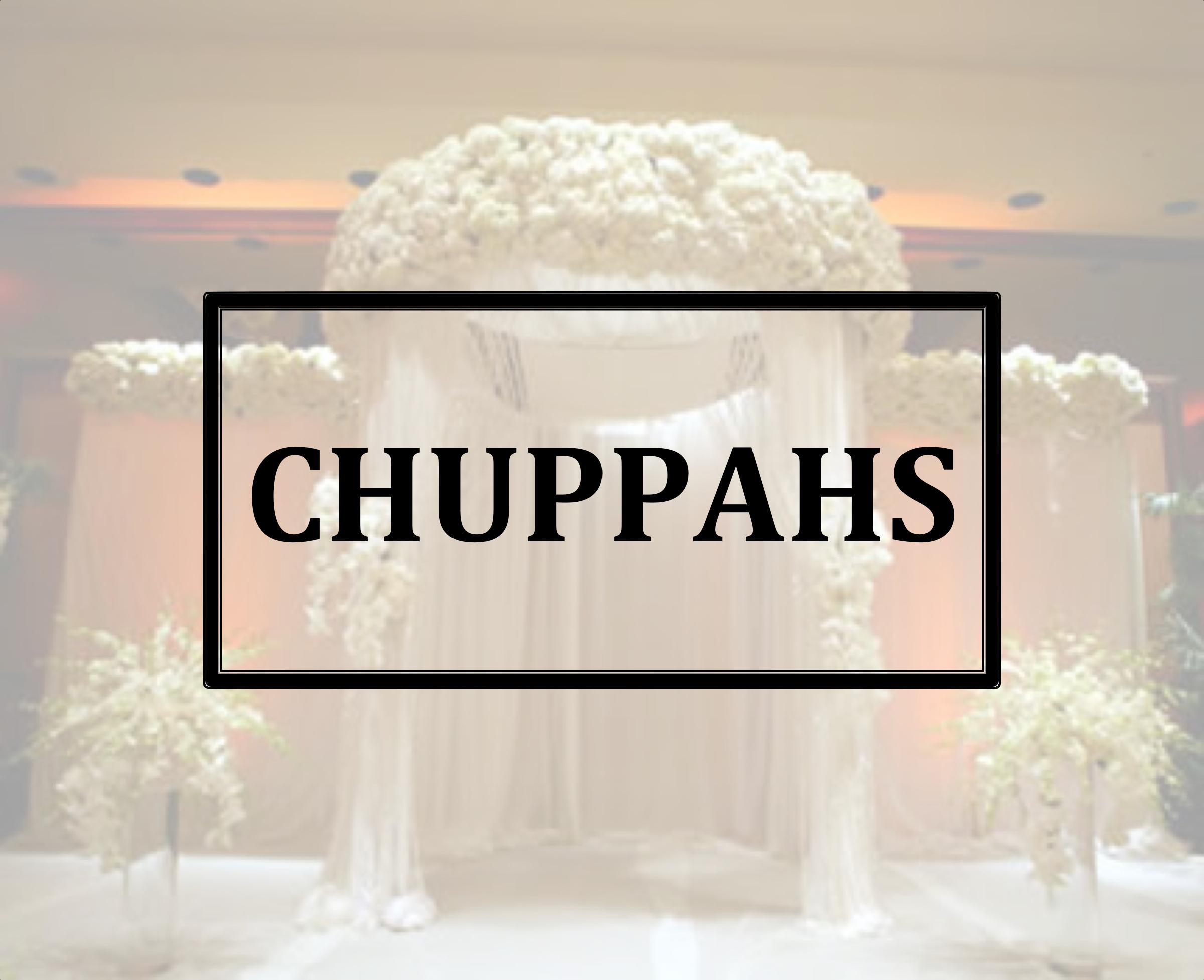 white chuppah