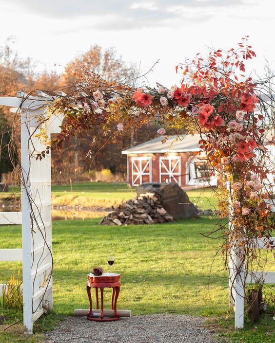Autumn Chuppah via Martha Stewart Weddings