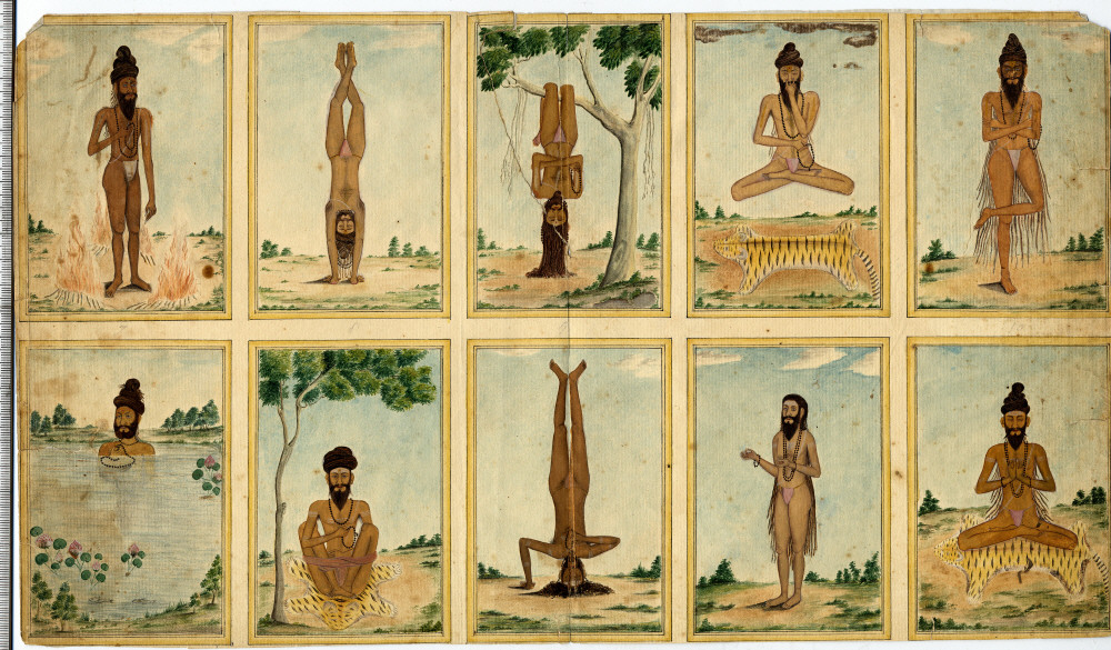 Ascetic practicing various techniques of yoga and tapas (~1825)
