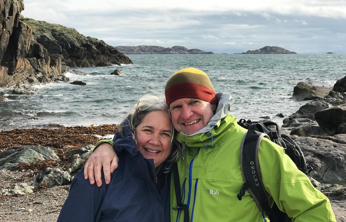 Sally & Stu at St. Columba's Bay on the Isle of Iona, Scotland.