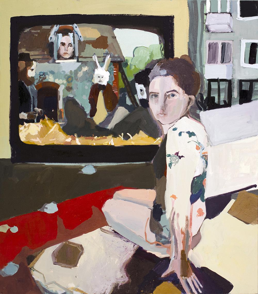 "Alice in Wonderland   30x26"" oil on canvas 2014"