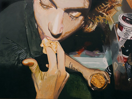 "Peanut Butter, The Binges      acyrlic on canvas, 60"" x 80""         2007"